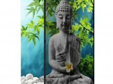 Paraván - Buddha: Beauty of Meditation [Room Dividers]